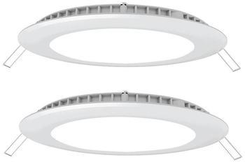 V-TAC 2er Set LED 18 Watt Einbau Wand Leuchten weiß Ess Zimmer Alu Decken Panel Raster schmal neutralweiß