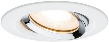 Paulmann LED Nova rund 7W GU10 schwenkbar weiß matt/chrom (929.03)