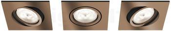 Philips LED 3x4,5W kupfer (50393/05/P0)