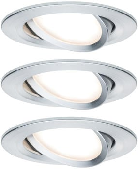 Paulmann LED Nova Round DIM 3x6,5W Aluminium (934.87)