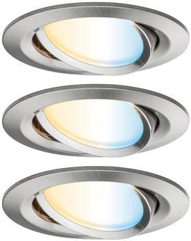 Paulmann SmartHome Zigbee LED Nova Plus Set 3x6W Eisen gebürstet (92962)