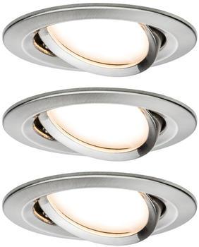Paulmann LED Nova rund Set 3x6,5W Stufendimmer Eisen gebürstet (934.83)