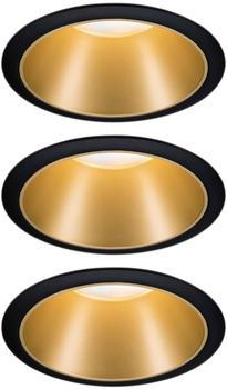 Paulmann LED Cole Set 3x6.5W 2700K warmweiß Stufendimmer schwarz/gold (934.04)