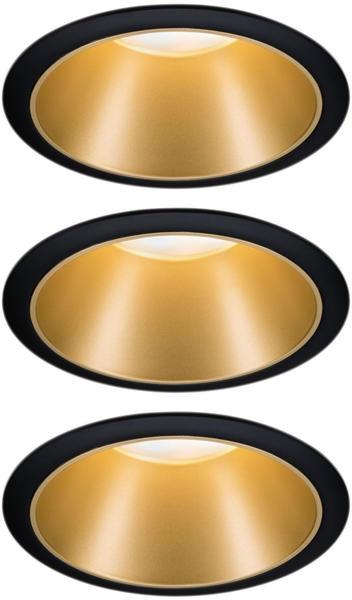 Paulmann LED Cole Set 3x6,5W 2700K warmweiß Stufendimmer schwarz/gold (934.04)