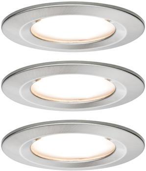Paulmann LED Nova rund Set 3x6,5W 2700K warmweiß Eisen gebürstet (934.58)