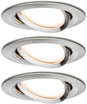 Paulmann LED Nova rund Set 3x6,5W Eisen gebürstet (934.47)