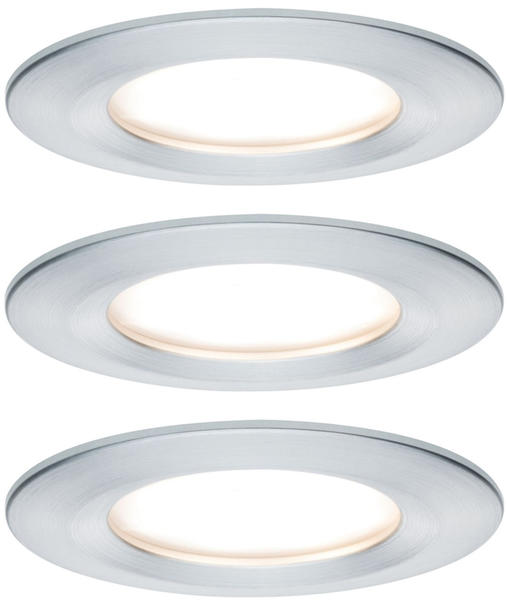 Paulmann LED Nova rund Set 3x6,5W Stufendimmer Aluminium gedreht (934.98)