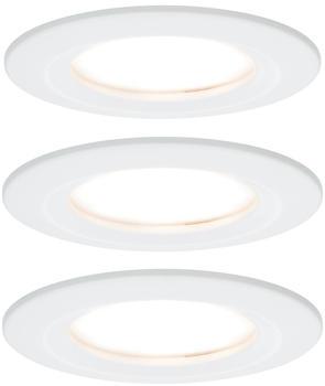 Paulmann LED Nova rund Set 3x6.5W weiß matt (934.60)