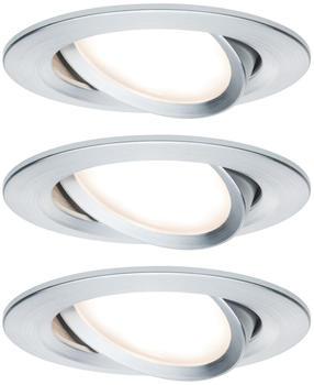 Paulmann LED Nova rund Set 3x6,5W Aluminium (934.51)