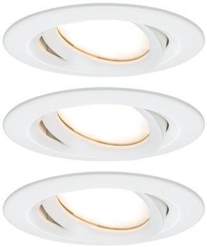 Paulmann LED Nova Plus rund Set 3x6,8W 2700K warmweiß dimmbar mat tweiß (936.82)