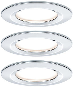 Paulmann LED Nova rund Set 3x6,5W 2700K chrome matt (934.63)