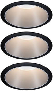 Paulmann LED Cole Set 3x6,5W 2700K warmweiß Stufendimmer schwarz/silber (934.08)