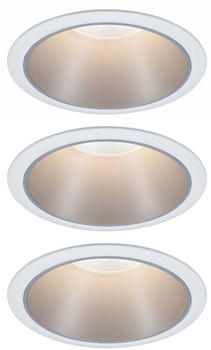Paulmann LED Cole Set 3x6,5W 2700K warmweiß Stufendimmer weiß/silber (934.10)