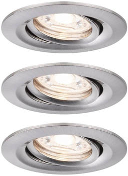 Paulmann LED Nova Mini 3x4W 2700W schwenkbar Eisen gebürstet (942.95)