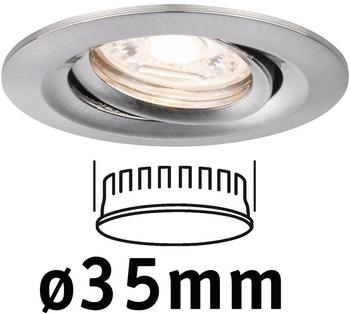 Paulmann LED Nova Mini 1x4W 2700K schwenkbar Eisen gebürstet (942.94)