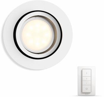Philips Hue White Ambiance Milliskin rund 5.5W GU10 weiß (50411/31/P7)