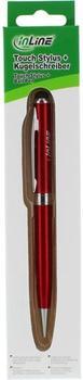 InLine Stylus für Touchscreens & Kugelschreiber rot