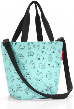 Reisenthel Shopper XS Kids cats and dogs mint