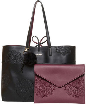 Desigual Shopper Women Black/Bordeaux