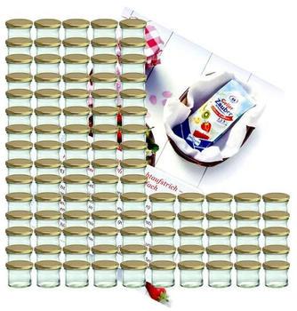 MamboCat Sturzglas 125 ml (100 Stk.) gold