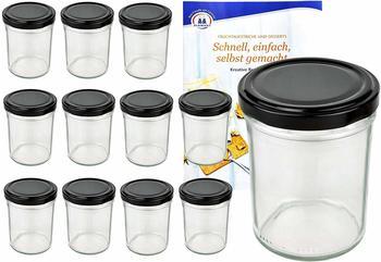 MamboCat Sturzgläser 230 ml schwarz (12 Stk.)