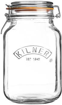 Kilner Clip Top Square Jar 2000 ml