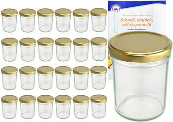 MamboCat 25er Set Sturzglas 230 ml HOCH To 66 goldener Deckel incl. Diamant Gelierzauber Rezeptheft