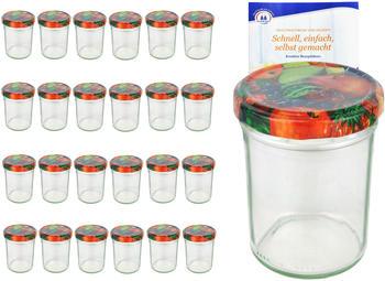 MamboCat 25er Set Sturzglas 230 ml HOCH To 66 Obst Nachbildung Deckel incl. Diamant Gelierzauber Rezeptheft