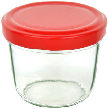 MamboCat 25er Set Sturzglas 230 ml To 82 Piros Deckel incl. Diamant Gelierzauber Rezeptheft