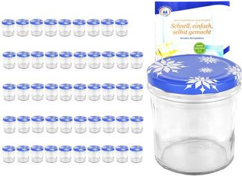 MamboCat 50er Set Sturzglas 350 ml To 82 Deckel Schneeflocke incl. Diamant Gelierzauber Rezeptheft