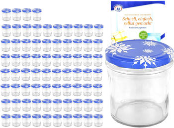 MamboCat 75er Set Sturzglas 350 ml To 82 Deckel Schneeflocke incl. Diamant Gelierzauber Rezeptheft