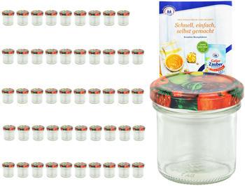 MamboCat 50er Set Sturzglas 167 ml To 66 Obst Nachbildung Deckel Einmachgläser Einkochgläser incl. Rezeptheft