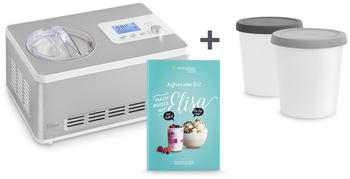 Springlane Elisa 2-in-1 Eismaschine und Joghurtbereiter + Aufbewahrungsbehälter 2er-Set