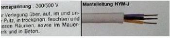 Faber Kabel Feuchtraumkabel 50m NYM-J 3x2,5