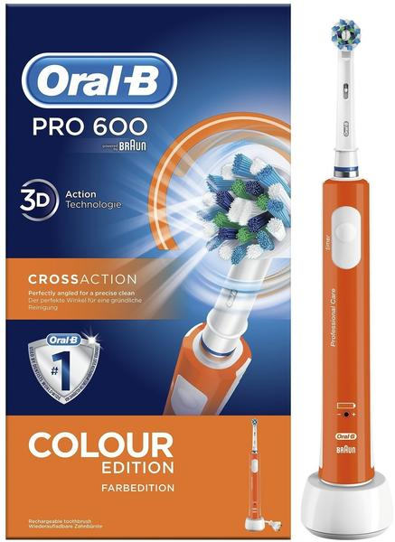 Oral-B Pro 600 CrossAction Colour Edition Orange