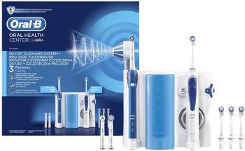 Oral B Oral-B Center Pro 2000 Dentalcenter Waterjet Munddusche 2 Putzmodi (Blau, Weiß) (Versandkostenfrei)