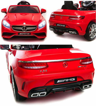 Simron Mercedes-Benz S63 AMG Cabriolet 12V rot