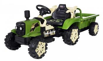Actionbikes Elektro Traktor mit Anhänger grün