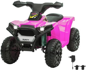 Jamara Ride On Mini Quad Runty pink/schwarz