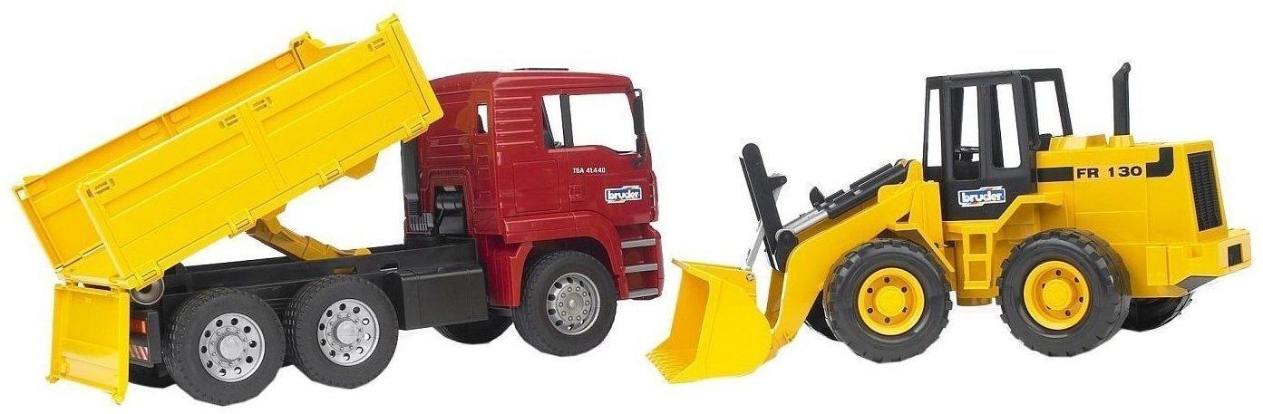 Spielzeugautos & Zubehör Bruder 02752 man TGA Kipplastwagen Gelenkradlader günstig kaufen