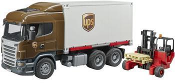 Bruder Scania R-Serie UPS Logistik-LKW