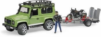 Bruder Land Rover Defender Station Wagon mit Anhänger (02598)