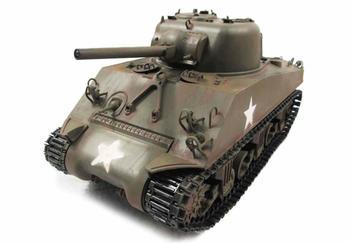 Amewi Panzer M4A3 Shermann Metall Army green, 1:16 (23084)
