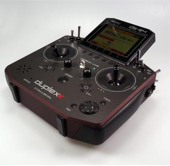 Jeti DS-24 Transmitter carbonline dark red