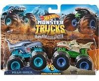 Mattel Hot Wheels Monster Trucks 1:64 Die-Cast 2er-Pack Mega Wrex vs Leopard Shark