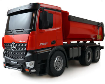 Amewi Mercedes-Benz Arocs Lizenz LKW Kipper 2.4GHz RTR, rot (22407)