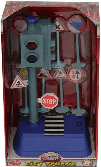 Dickie City - Verkehrszeichen Set + Ampel + 8 Schildern (3051)