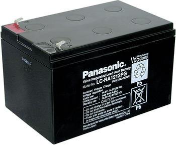 Panasonic 12 v 12 ah lc-ra1212pg bleiakku 12 v 12 ah blei-vlies (agm) (b x h x t) 151 x 94 x 98 mm flachstecker 4.8 mm v