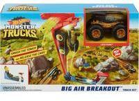 Mattel Monster Trucks Mega Sprung-Blaster mit 1:64 Die-Cast Truck