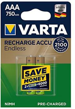 Varta Recharge Accu Endless AAA 750mAh (2 St.)